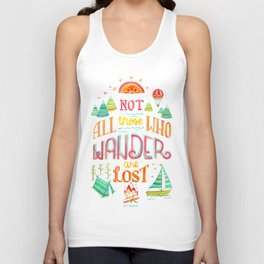 Not All Those Who Wander ii Unisex Tank Top