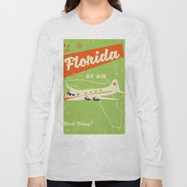 Florida By air - vintage travel poster Long Sleeve T-shirt