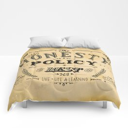 the honesty policy Comforters