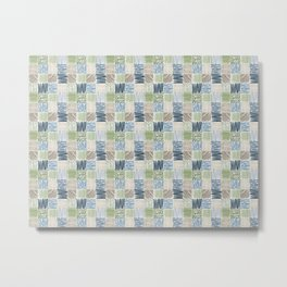 Jungle Set | hand illustrated quilt pattern Metal Print
