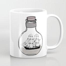 The ship in the glass bulb . Artwork Coffee Mug