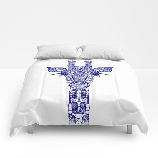 GIRAFFE BLUE Comforters