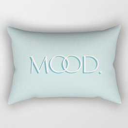 Big Mood - One Word Meme - Baby Blue Retro Typography Rectangular Pillow