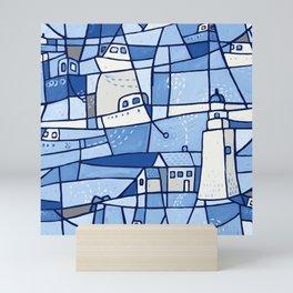 Safe Harbour - Blue Mini Art Print