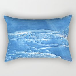 Corn flower blue abstract watercolor painting Rectangular Pillow