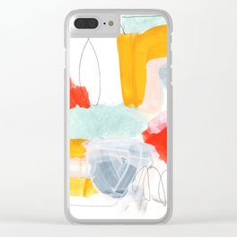 abstract painting XVI Clear iPhone Case