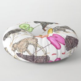 Dogs with Balloons Floor Pillow