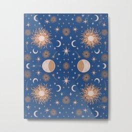 Moon Sun Stars Metal Print