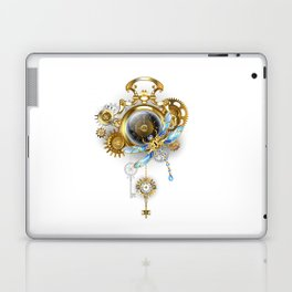 Steampunk Clock with Mechanical Dragonfly Laptop & iPad Skin