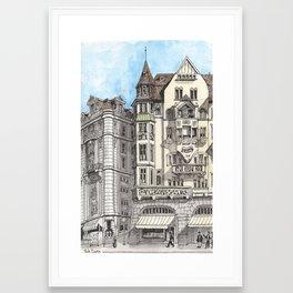 Downtown Basel, Switzerland Framed Art Print