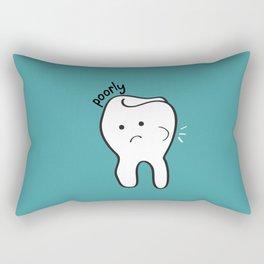 Poorly Tooth Rectangular Pillow