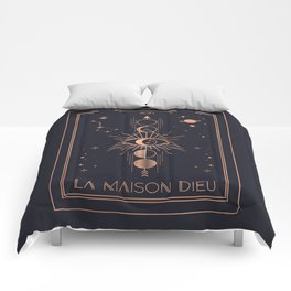 La Maison Dieu or The Tower Tarot Comforters