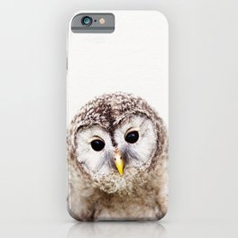 Baby Owl, Baby Animals Art Print By Synplus iPhone Case