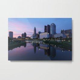 Columbus, Ohio Skyline at Dusk Metal Print