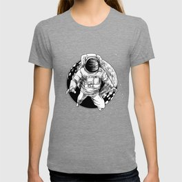Floating Astronaut With Moon design Universe Cience Lovers T-shirt