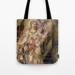 "Evelyn De Morgan ""Our Lady of Peace"" Tote Bag"