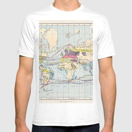 Antique World Map of Food & Commercial Products T-shirt