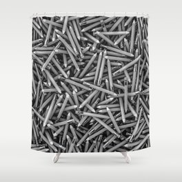 Pencil it in B&W / 3D render of hundreds of pencils in black and white Shower Curtain