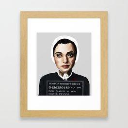 Banned Books Mugshots: Hester Framed Art Print