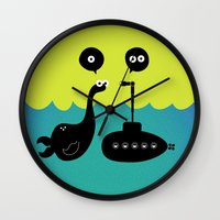 submarine Wall Clocks featuring Submarine by Michael Goodson