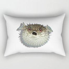 Angry little fish Rectangular Pillow