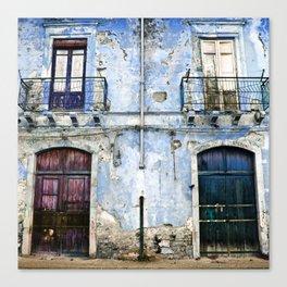 BLUE FACADE of SICILY Canvas Print