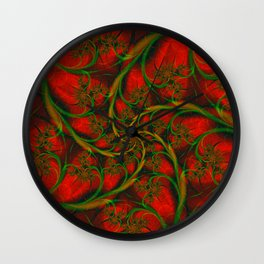 Rose Vines Wall Clock
