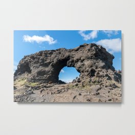 Iceland: Lava window at Dimmuborgir Metal Print