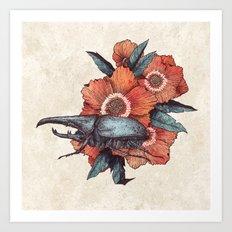 Hercules Beetle Art Print