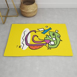 Nerdy and gorgeous chameleon Rug