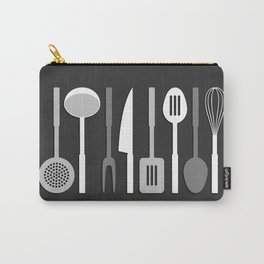 Kitchen Utensil Silhouettes Monochrome II Carry-All Pouch