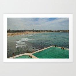 Bondi Beach Icebergs Old Art Print