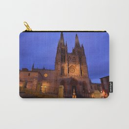 Night view of Burgos Cathedral in Spain. Carry-All Pouch