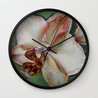 orchid Wall Clocks featuring Orchid by LoRo  Art & Pictures