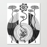 frog Canvas Prints featuring Frog by alicanto