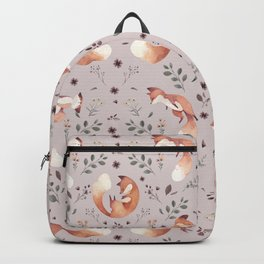 Fox pattern Backpack