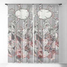 Hellraiser Puzzlebox D Sheer Curtain