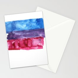 bisexual watercolor flag Stationery Cards