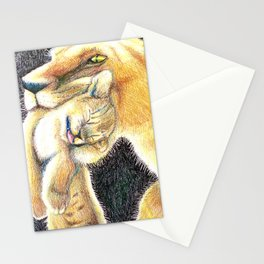 Mama and baby lion love Stationery Cards