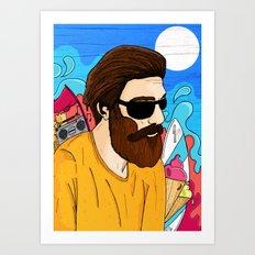 Summer Beard Art Print