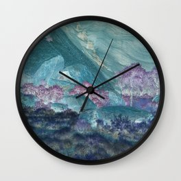 Crystal Deserts Wall Clock