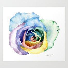 Wacky Rose Art Print