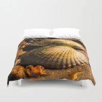 shells Duvet Covers featuring Shells by Wealie