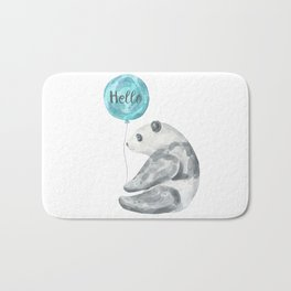 Panda Greeting Bath Mat