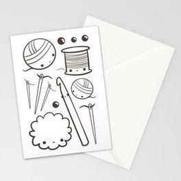 crochet cute - kawaii craft supplies Stationery Cards