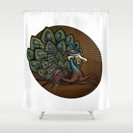 Mutant Zoo - Peacockroach Shower Curtain