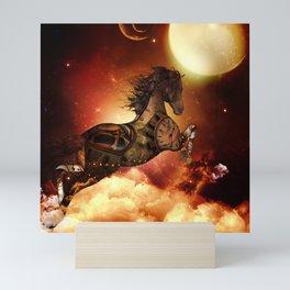 Steampunk, awesome steampunk horse Mini Art Print