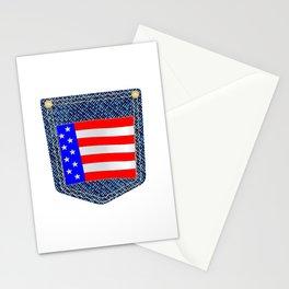 Stars and Stripes Denim Pocket Stationery Cards