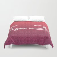 carpe diem Duvet Covers featuring Carpe Diem. by saramilie