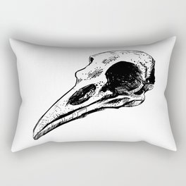 Dark Crow Skull Sketch Rectangular Pillow